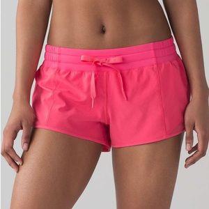 LULULEMON   coral, lip gloss   hot hotty shorts